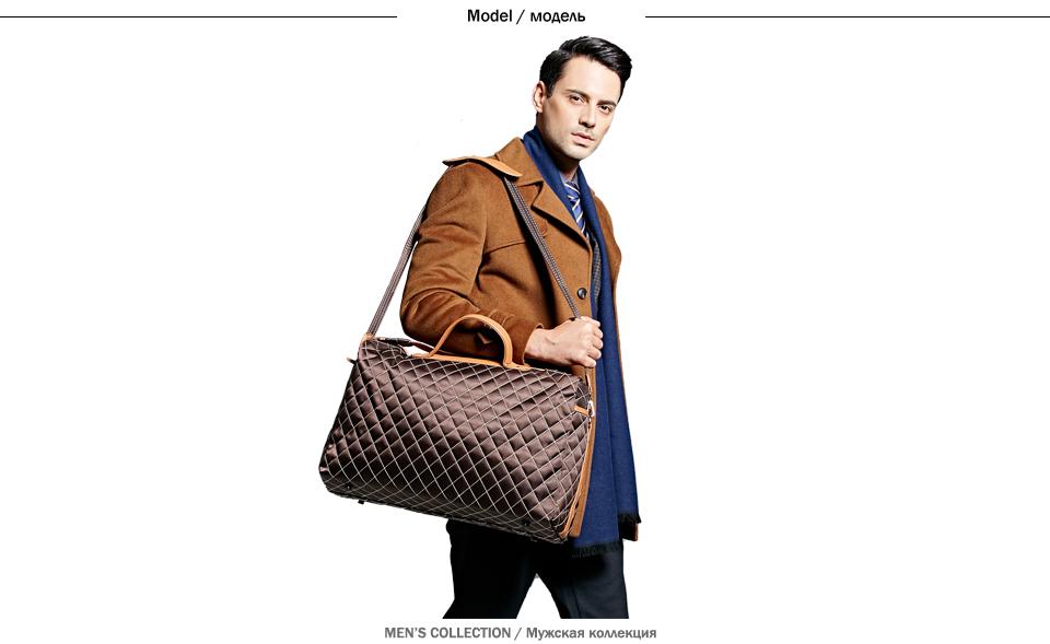bee5e1a7ef Luxury Large Size Brand Mens Travel Bag  Burglarproof Rotary Buckle Fashion  Travel Shoulder Bag Unisex Duffle Bags.